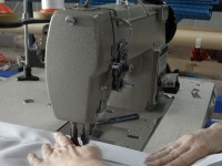 Example of vinyl welding and sewing